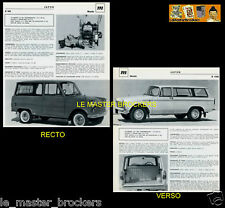 MAZDA B 360 et 1500_PAGE PRESSE FICHE AUTO TECHNIQUE COLLECTION