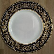 Lovely Royal Worcester Cobalt Blue & Gold Sandringham Luncheon Plate
