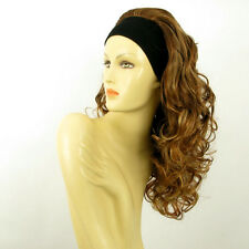 headband wig long curly brown blond copper wick clear  BUTTERFLY 6BT27B