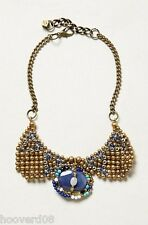 NWT Anthropologie PAM HIRAN Jemez Drop Collar Necklace Blue Agate Pearl Onyx