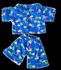 "Teddy Bear Clothes Blue PJs pajama outfit to fit 8"" build a bear factory teddies"