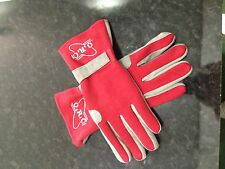 Fireproof Racing Gloves ( Nomex ) Red/Grey Size M