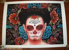 Sylvia Ji Flor Eterno Art Print Poster S/# 50 Día de Muertos Day of the Dead