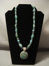 IMPORTANT MOST RARE VINTAGE NAVAJO BEN BEGAYE TURQUOISE SILVER NECKLACE