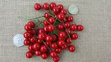 50 x Red, Gold, Silver, Artificial Holly Berries 15mm Christmas Wreaths Display