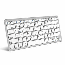 Caseflex Silver Wireless Bluetooth Keyboard for iPad 1 2 3 4 & All Air, Mini Mac