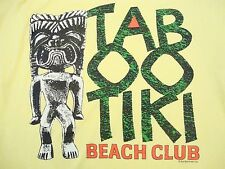 Vintage Taboo Tiki Bar Beer College Party Front Pocket T Shirt S