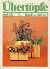 Musterbogen Übertöpfe aus Holz Anleitung und 5 Muster DDR 1987