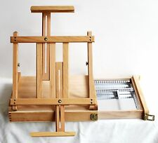 Box Easel. Beech wood. Storage drawer. Adjustable. Folding.  Table top