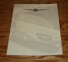 Original 1998 Chrysler Sebring Coupe Foldout Sales Brochure 98