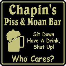 Custom Bar Sign Personalized Name Piss & Moan Beer Pub Gift #9