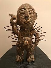 WOW! Real Congo Power Figure Nkisi Nkondi Wooden African Tribal Art Statue Kongo