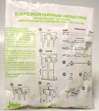Johnson Hardware for Sliding Door Instructions and parts kit