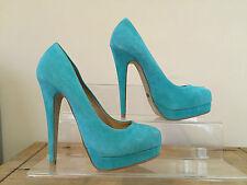 ALDO PRAK Ladies Mint Green Suede Platform Court Shoes UK4 EU36 RRP £75 ONLY £35