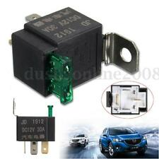 30A 12V DC 4 Broches Relais Relay Socket Pr Automotive Véhicule Voiture Camion