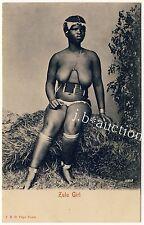 S Africa BUSTY NUDE ZULU WOMAN / FRAU MIT NACKTER BRUST * Vintage 1900s PC