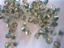 100 Austrian Crystal Glass Bicone Bead Jewellery Making Pink/Green Mix-4mm