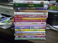 (17) Childrens Girls DVD Lot: (5) Disney Annie Amelie Nanny McPhee American Girl