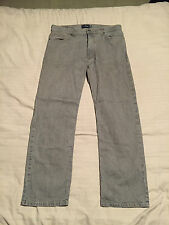"""Mens Marks & Spencer Blue Harbour Grey Jeans Size 36"""" Waist, 31"""" Leg Great Cond"""