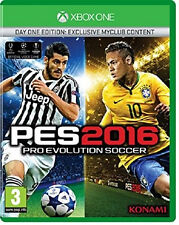 Pro Evolution Soccer 2016 -- Day 1 Edition (Microsoft Xbox One, 2015)