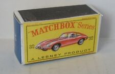Repro Box Matchbox 1:75 Nr.32 Jaguar E-Type