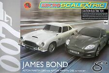 2015 Micro Scalextric James Bond 007 Aston Martin G1122T HO Slot Car RACE SET