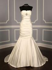 AUTHENTIC Ines Di Santo Ivory Silk Satin NEW Bridal Gown 10 RETURN POLICY