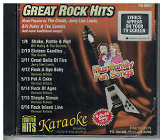 FOREVER HITS Karaoke GREAT ROCK HITS FH-8801 16 song CD