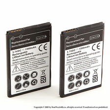 2x 1500mAh battery for HTC Droid Incredible 2 ADR6350; Droid Incredible S S710e