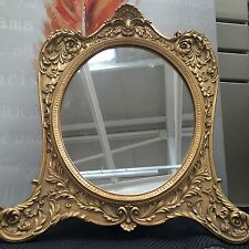 BNIB Gold Antique Gilt Baroque Style  Mantel Mantle Dressing Table Mirror NEW