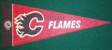 CALGARY FLAMES NHL MINI PENNANT, NEW & MADE IN USA