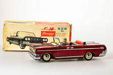 #Antique Red China Tin Toy# Boxed ME677 Sightseeing DongFeng Car MF Old ME MS