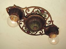 CLASSIC! Antique 1930s Virden Winthrop 2 Light Fixture Restored PAIR AVAILABLE!!