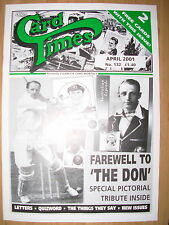 CARD TIMES MAGAZINE FORMERLY CIGARETTE CARD MONTHLY No 132 APRIL 2001