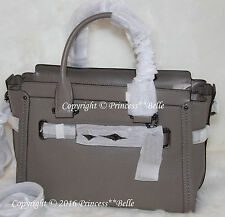 NWT! COACH Swagger 27 Carryall Satchel Leather Bag Purse Handbag Fog $450