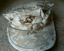 US Military Issue Marine Corps USMC Desert Marpat Cover Hat Cap Size Small
