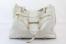 Dolce & Gabbana White Leather Handbag Purse Satchel Shoulder Bag