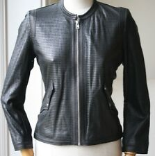 ISABEL MARANT ETOILE CALVIN BLACK LEATHER JACKET FR 38 UK 8