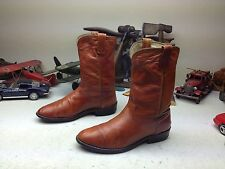 DAN POST USA COGNAC RUST KANGAROO LEATHER ENGINEER TRAIL BOSS ROPER BOOTS 9 D