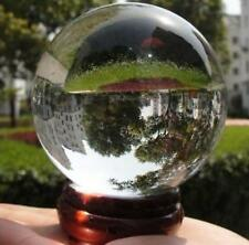 60mm + Stand Asian Quartz Pure Clear Magic Crystal glass Healing Ball Sphere