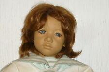 Schöne große Annette Himstedt Puppe Junge Bub Puppen Dolls 63cm Enzo doll Haaren
