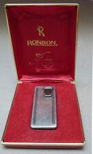 Ancien briquet à gaz RONSON avec écrin electronic lighter