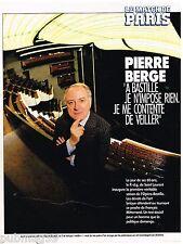 Coupure de presse Clipping 1990 (3 pages) Pierre Berge