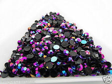 3000pcs Dark Purple AB 3mm ss12 Flat Back Resin Rhinestones Diamante Gems C82