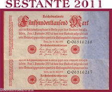 GERMANY, GERMANIA 500.000 500000 MARK 1923 P 92 LARGE NUMBER FDS / UNC PERFECT