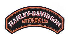HARLEY DAVIDSON NOSTALGIC ROCKER VEST PATCH  MOTORCYCLE * PATCH MADE IN THE USA