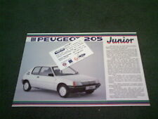 February 1987 PEUGEOT 205 JUNIOR Special Edition LEAFLET BROCHURE Charters Card