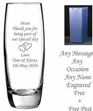 Personalised Engraved Glass Vase Wedding gifts, Mother of bride/groom gifts