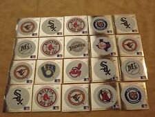 VINTAGE BOSTON RED SOX PLUS 20  1991 FLEER MLB BASEBALL LOGO STICKERS