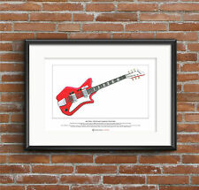 Jack White's Airline JB Hutto guitar Limited Edition Fine Art Print A3 size